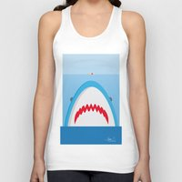 jaws Tank Tops featuring Jaws by Daniel Anastasio