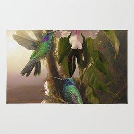 Sparkling Violetear Hummingbirds Rug