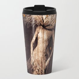 Dark portrait in autumn (colour option) Travel Mug