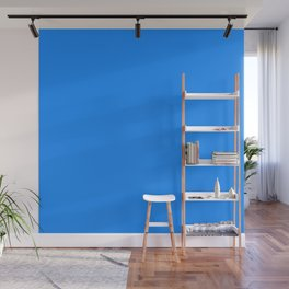 Solid Bright Dodger Blue Color Wall Mural