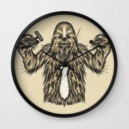 Chewie I Hate Mondays SW Wall Clock