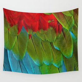 Catalina Macaw Feathers Wall Tapestry