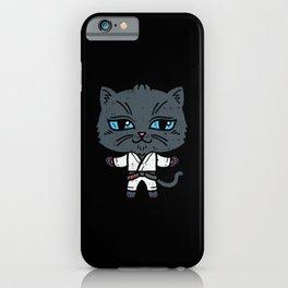 Kawaii Cat in BJJ Uniform iPhone Case