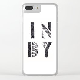 Indy Indianapolis Indiana Clear iPhone Case