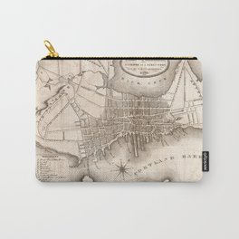 Vintage Map of Portland ME (1846) Carry-All Pouch