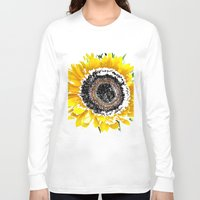 sunflower Long Sleeve T-shirts featuring Sunflower by Regan's World