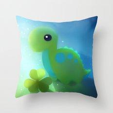 bronto dino Throw Pillow