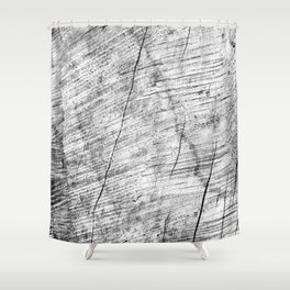 Cracks in timber Textures 3 Shower Curtain