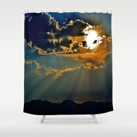 utah Shower Curtains featuring Utah Sunburst by RENA16
