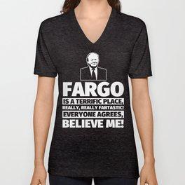 Fargo Funny Gifts - City Humor Unisex V-Neck