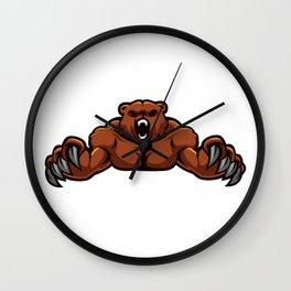 angry, ape, beast, cartoon gorilla, cartoon, gorilla, gorilla cartoon, gorilla strong, king, kong, Wall Clock