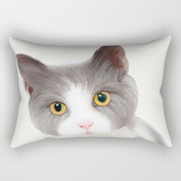 Cat with Yellow Eyes Rectangular Pillow