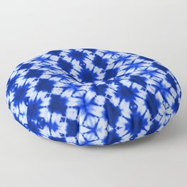 indigo shibori print Floor Pillow