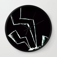 the flash Wall Clocks featuring Flash! by Iotara