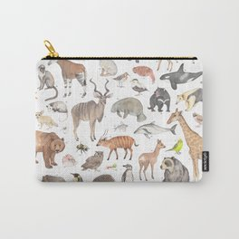 100 animals Carry-All Pouch