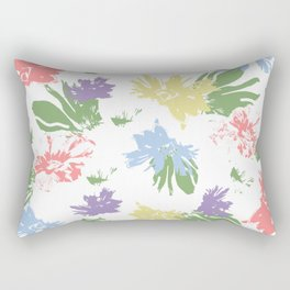 Dancing Pastel Flowers Rectangular Pillow