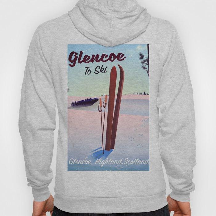 Glencoe Ski Scotland travel poster Hoody