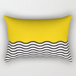 Waves of Yellow Rectangular Pillow