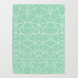 Abstract Mirror Mint Poster