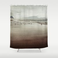 oregon Shower Curtains featuring oregon beach by Bonnie Jakobsen-Martin