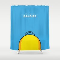 simpson Shower Curtains featuring Homer Simpson by Mr. Peruca