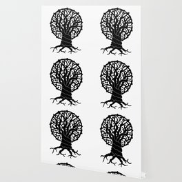 tree with circular branches Wallpaper