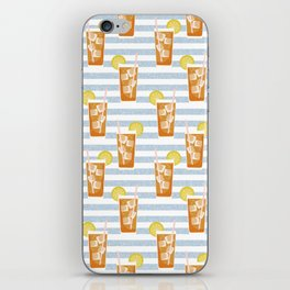 ice sweet tea summer southern stripes food fight apparel and gifts iPhone Skin