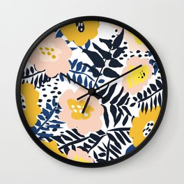 Outdoor: florals matching to design for a happy life Wall Clock