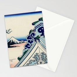 "Hokusai (1760-1849) ""Asakusa Hongan-ji temple in the Eastern capital [Edo]"" Stationery Cards"
