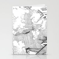 led zeppelin Stationery Cards featuring Zeppelin Overhead by Mr.Willow