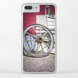 Big wood wheel Clear iPhone Case