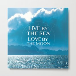 LOVE BY THE MOON Metal Print