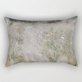 Tall wild grass growing in a meadow Rectangular Pillow