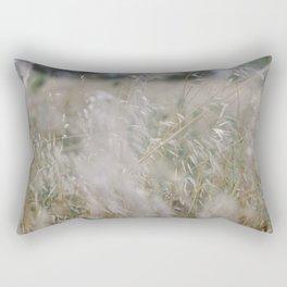Tall wild grass growing in a meadow Rectangular Pillow