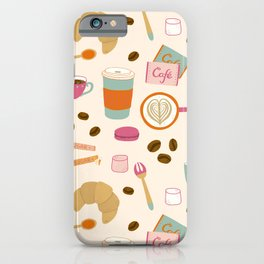Drawing Coffee in a Café iPhone Case