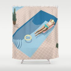 2 COOL 4 POOL Shower Curtain
