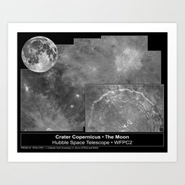 Hubble Space Telescope - Crater Copernicus on the Moon (1999) Art Print