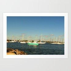 Sailing day Art Print