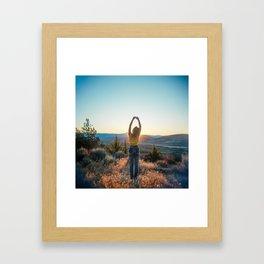 """""""Golden Hour Girl"""" - Sunset in Bend, Oregon Framed Art Print"""