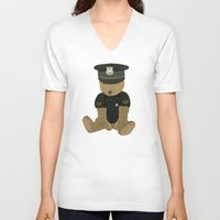 police V-neck T-shirts featuring police ted  by bri.buckley