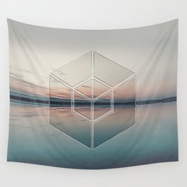Tranquil Landscape Geometry Wall Tapestry