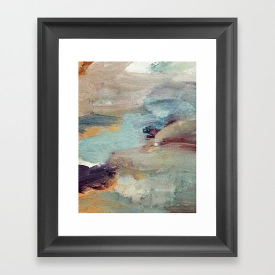 Gentle Beauty [5] - an elegant acrylic piece in deep purple, red, gold, and white by blushingbrushstudio
