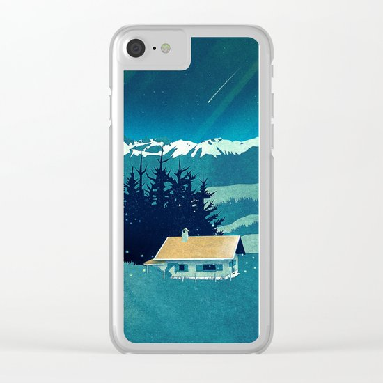 Magical Solitude Clear iPhone Case