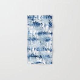 Modern hand painted dark blue tie dye batik watercolor Hand & Bath Towel