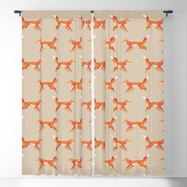 Fractal geometric fox Blackout Curtain