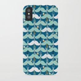 Mustache Waves iPhone Case