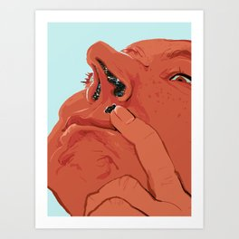 Space Boogers Art Print