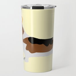 Crowned Basset Hound Dog Travel Mug