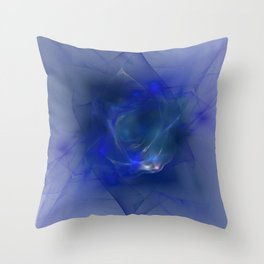 Folds Of Foamy Waves Throw Pillow