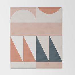 Cirque 04 Abstract Geometric Throw Blanket